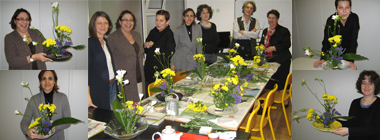 Photo de groupe atelier Ikebana